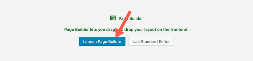 WordPress New Page Launch Page Builder