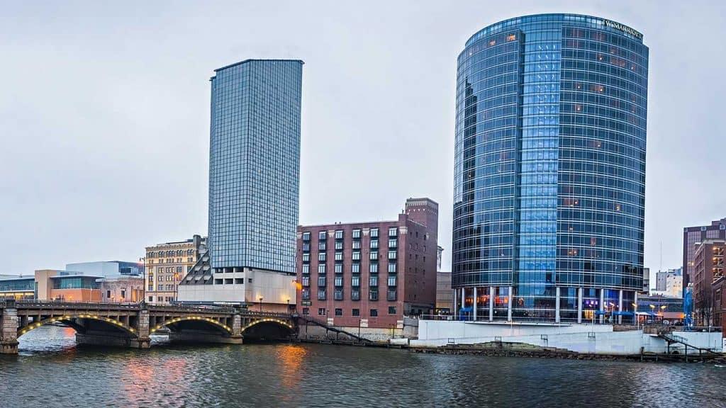 Downtown Grand Rapids, MI + Grand River + Custom Affordable Web Design