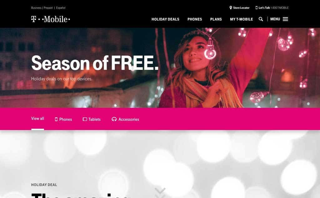 T Mobile Holiday Deals
