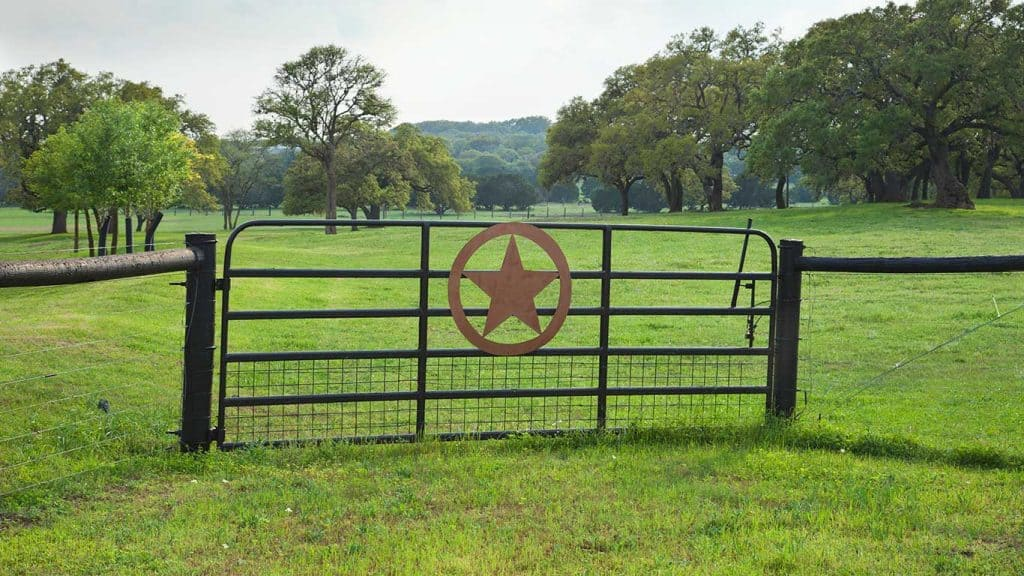 Texas Hill Country Ranch Gate