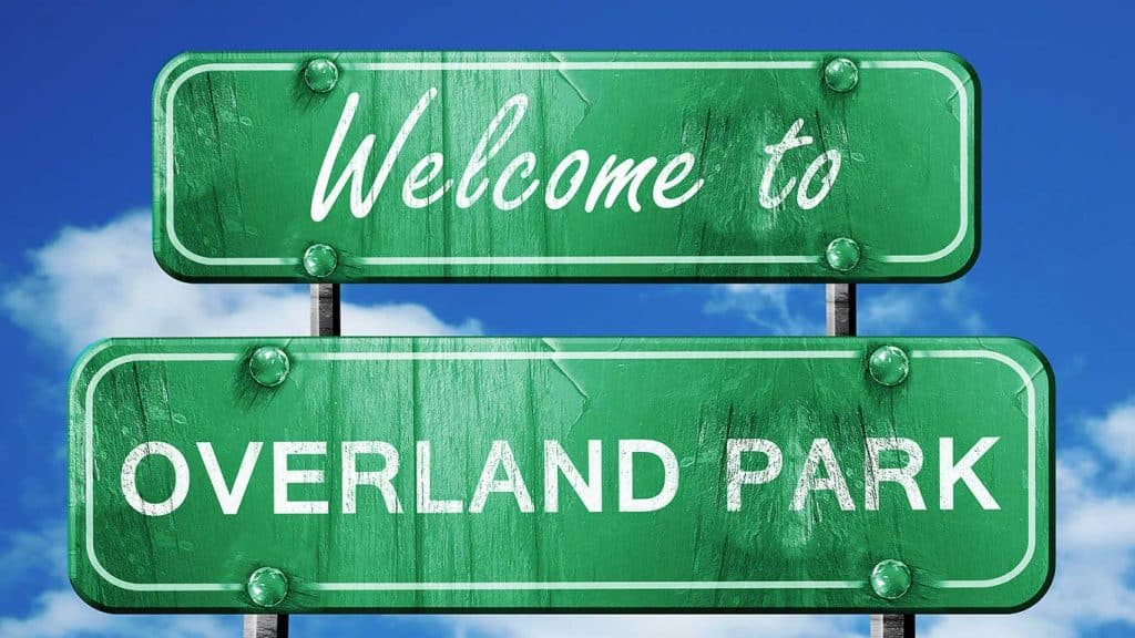 Overland Park, Kansas Welcome Sign