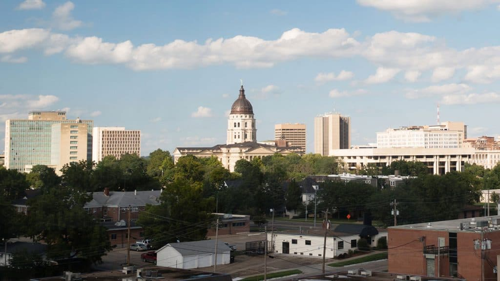 Topeka, Kansas Skyline and Capital Building