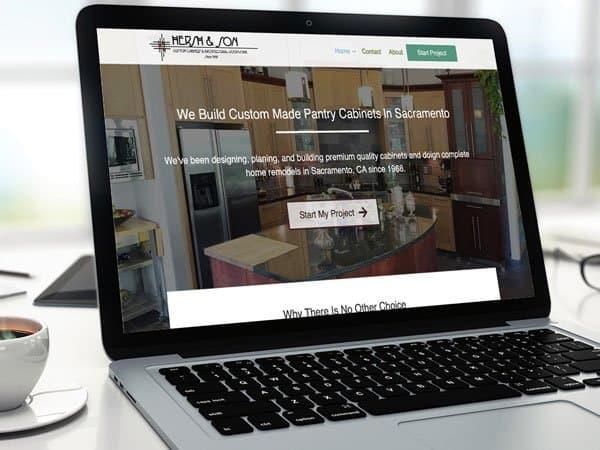Custom Cabinets Website