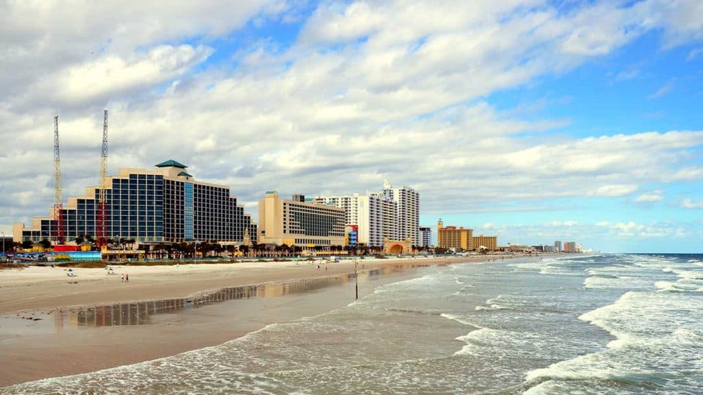 Daytona Beach Florida Ocean Beach and Hotels