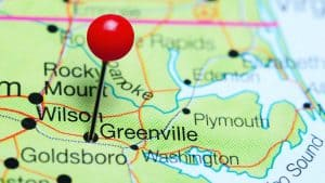 Greenville, North Carolina Pinned Map