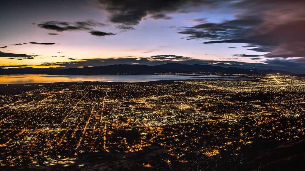 Provo Utah Night Panorama
