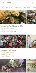 Google Maps App Florist Search
