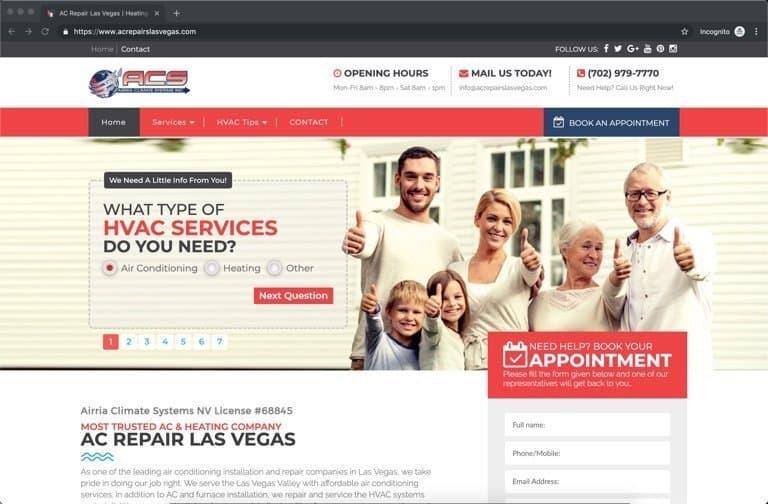 ACS Las Vegas HVAC Website