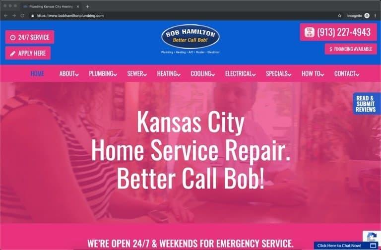 Bob Hamilton Kansas City HVAC Website