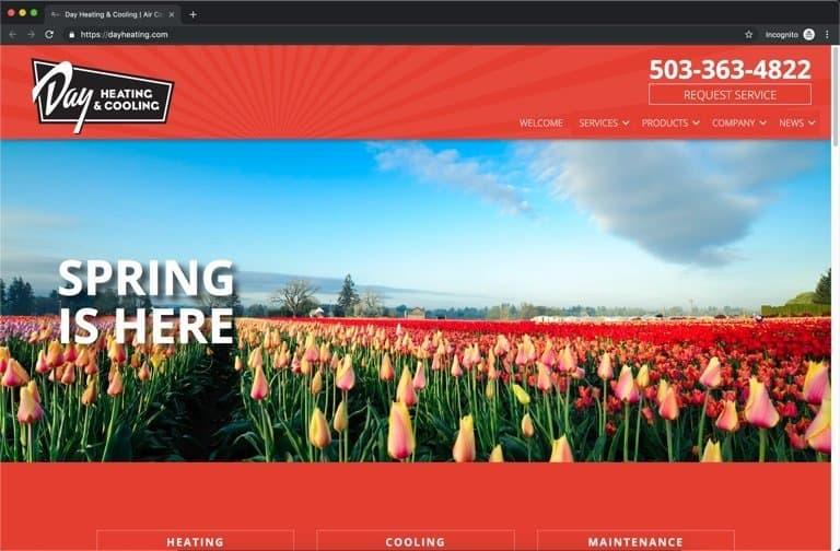 Day Salem Oregon HVAC Website