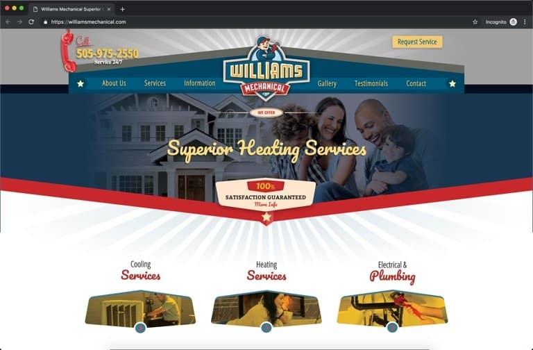 Williams Mechanical Albuquerque NM HVAC Website
