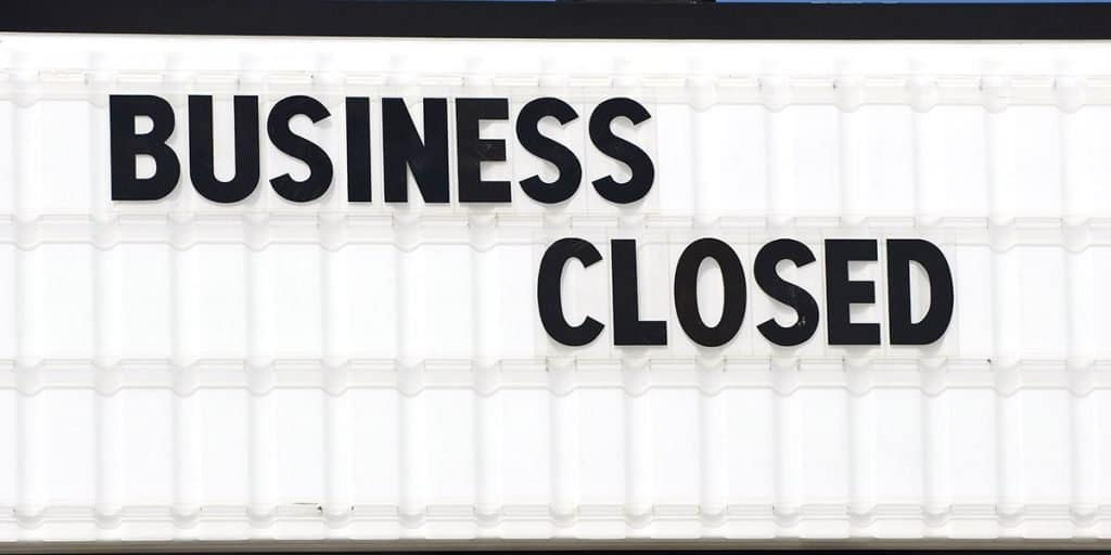 Citations Dead? Business Closed Sign.
