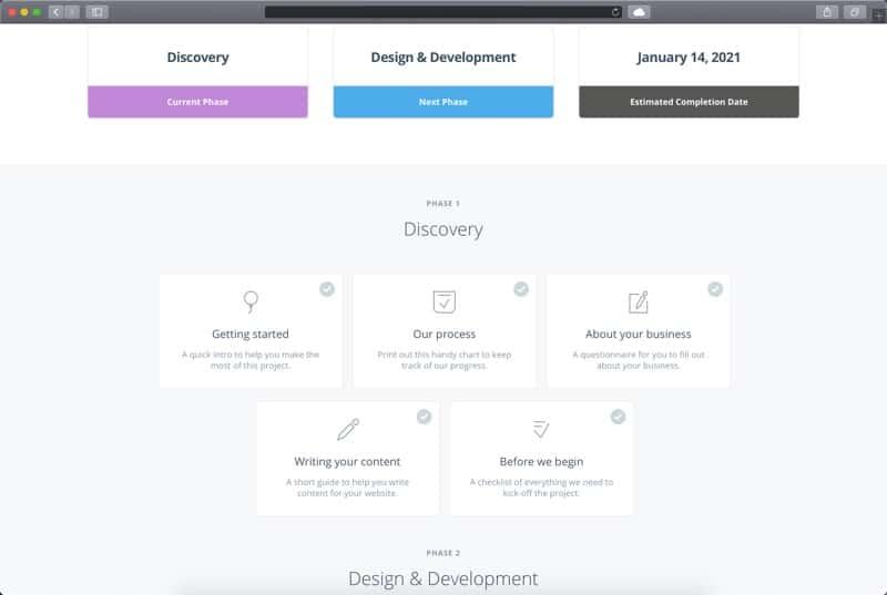 Loclweb Client Portal Web Design Process