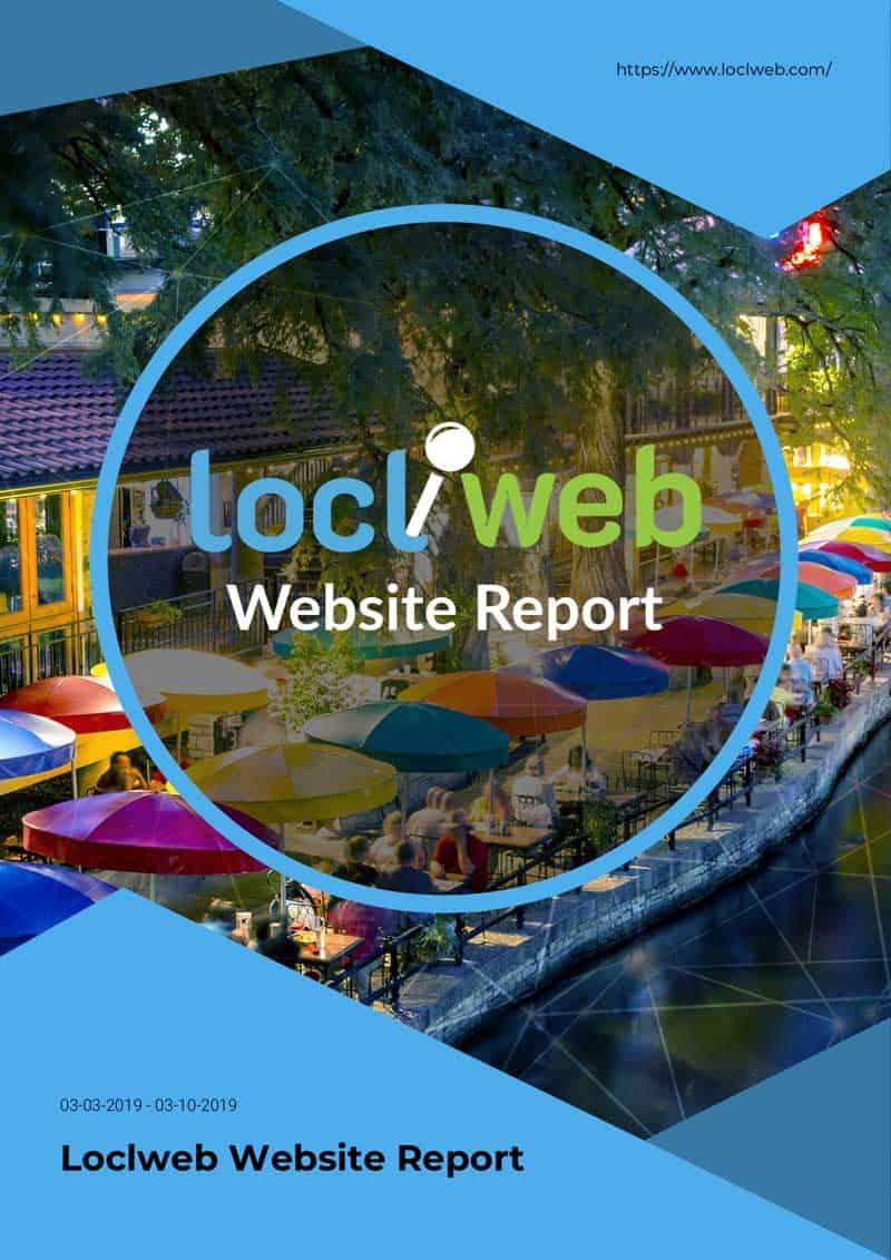 Loclweb Website Report Cover