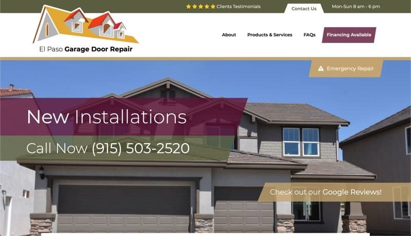 El Paso Garage Door Repair in El Paso, Texas