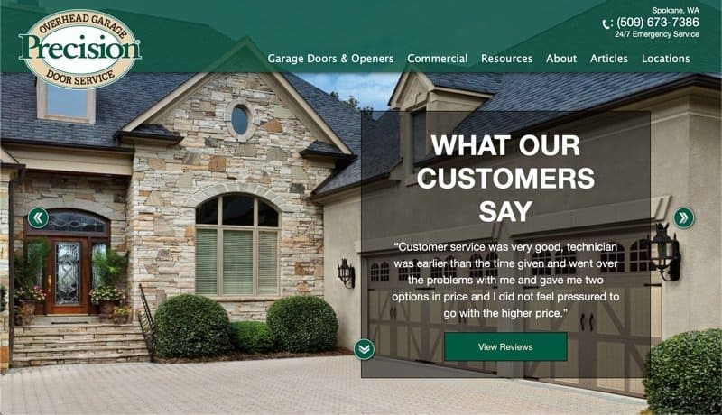 Precision Overhead Garage Door Service in Spokane, Washington