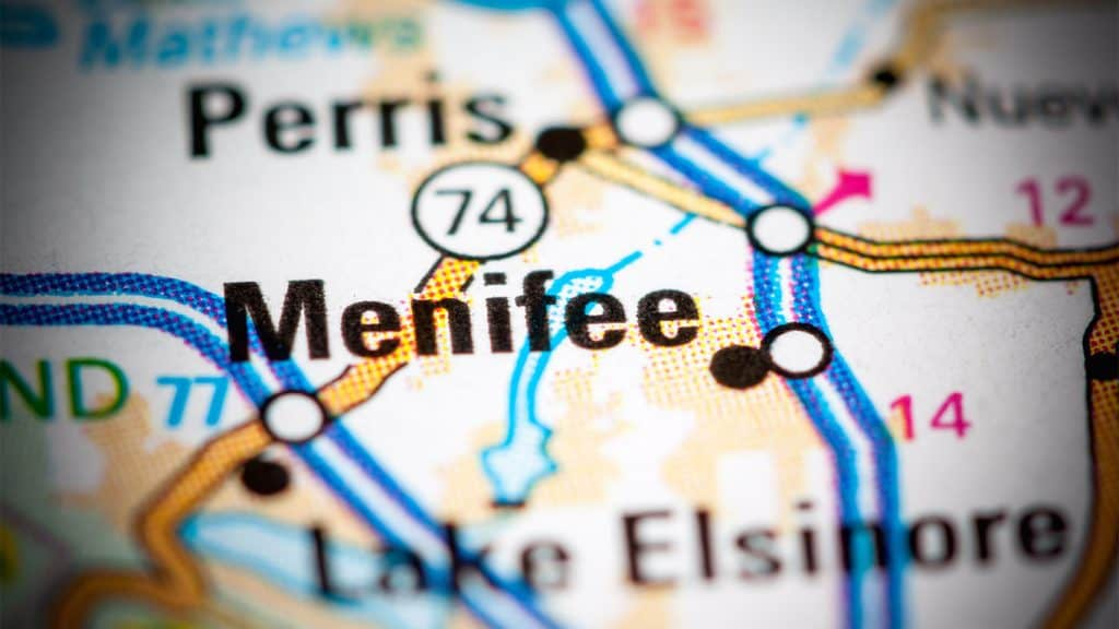 Affordable Web Design Menifee, CA Map