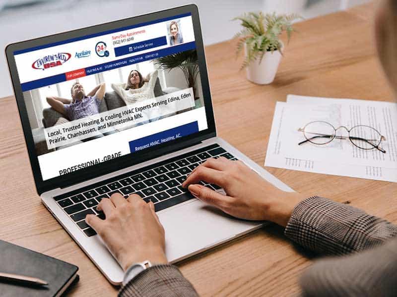 MN HVAV Contractor Website Design