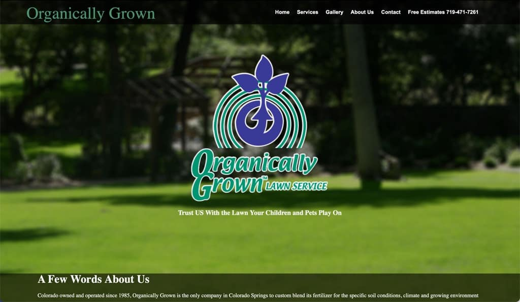 Organically Grown Lawn Service Website - Colorado Springs, CO
