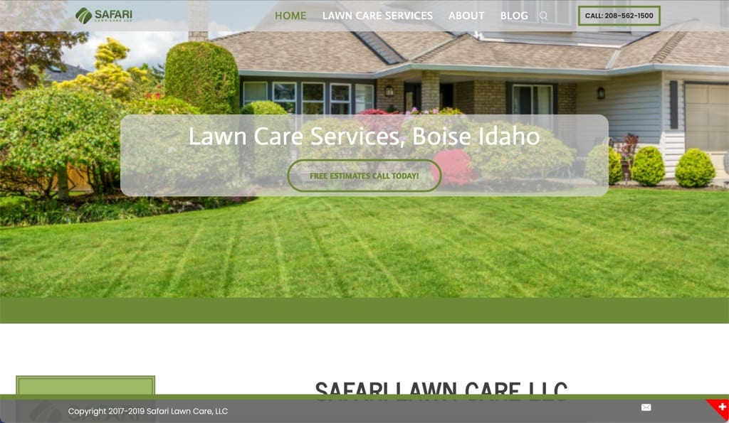 Safari Lawn Care Website - Boise, ID