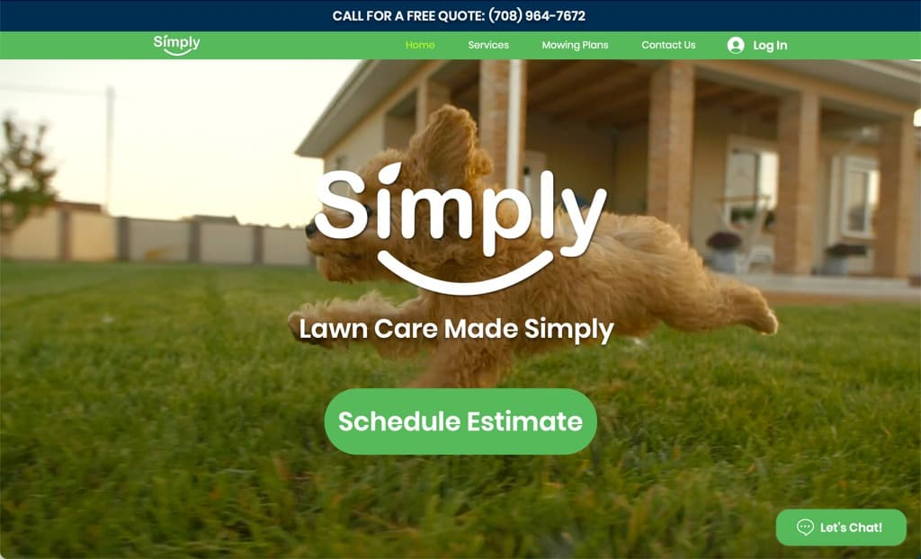 Simply Lawn Care Website - Chicago, IL