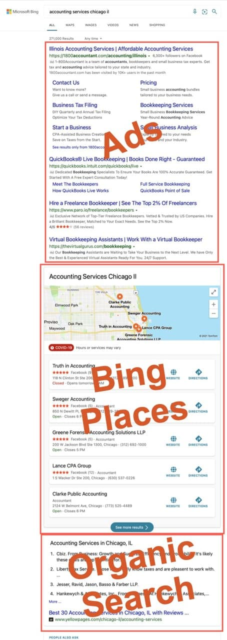 Bing search results for accounting services in chicago, il