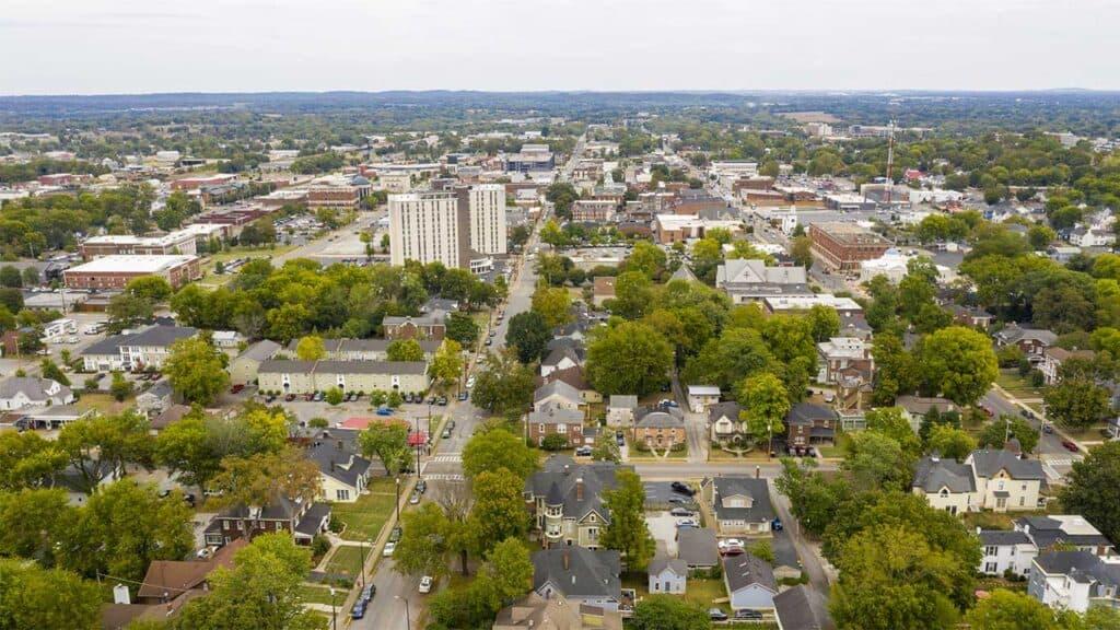 Bowling Green, Kentucky City Skyline